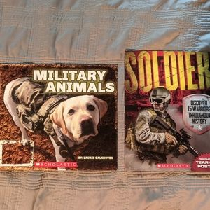 2 kids Scholastic military books
